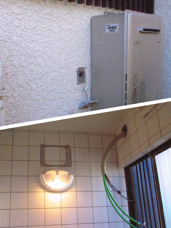浴室暖房乾燥機・熱源機セット 新規取付工事1
